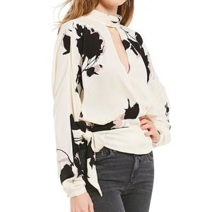 Say You Love Me Floral Print Tie Front Wrap